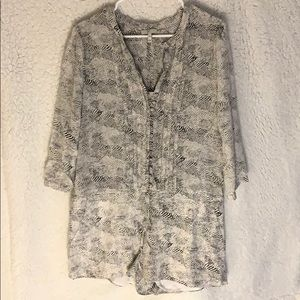 Joes Size M - Black and White Romper